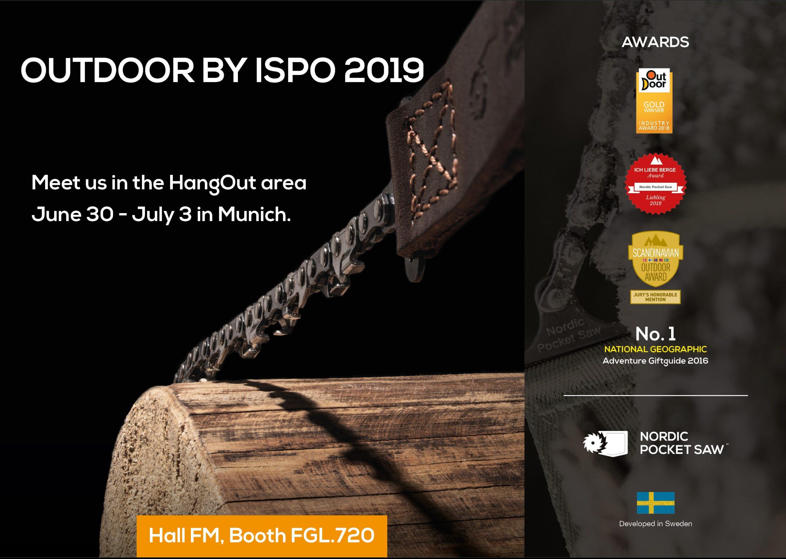 OutDoor by ISPO, Munich, June 30 – July 3, 2019